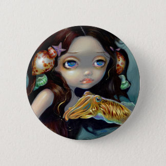 """Nymph with a Cuttlefish"" Button"