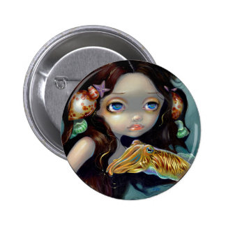 """""""Nymph with a Cuttlefish"""" Button"""