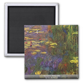 Nymphéas (Water Lily) By Claude Monet Magnet