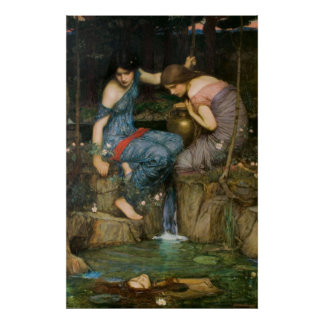Nymphs Finding the Head of Orpheus Poster