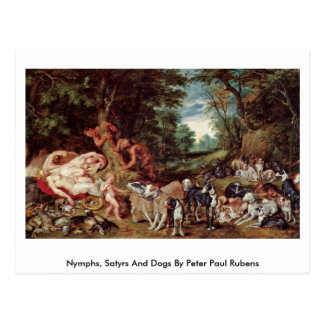 Nymphs, Satyrs And Dogs By Peter Paul Rubens Postcard