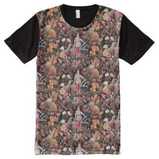 nymphs with american flag graphic t-shirt