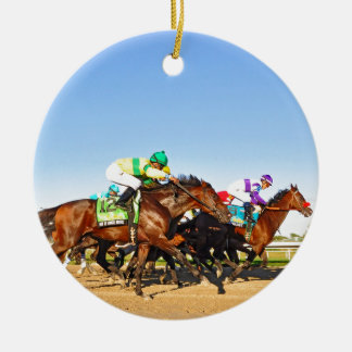 Nyquist Pa. Derby Round Ceramic Ornament