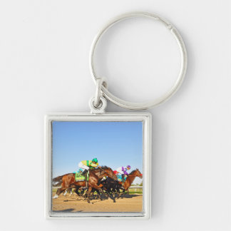 Nyquist Pa. Derby Silver-Colored Square Keychain