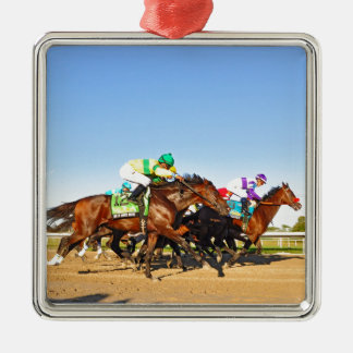 Nyquist Pa. Derby Silver-Colored Square Ornament