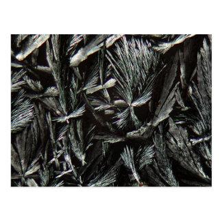 Nystatin crystals under a Microscope Postcard