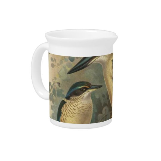NZ Birds - NZ Kingfishers Semi-Abstract Pitchers