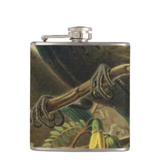 NZ Birds - Tui Semi-Abstract Flask