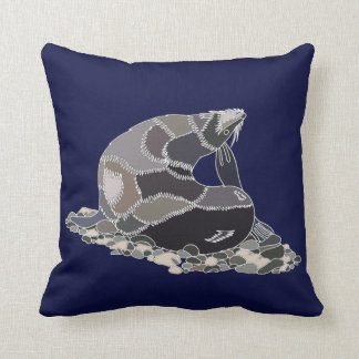 NZ Fur Seal Throw Pillow
