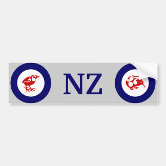 NZ KIWI and Rock wren bumper sticker