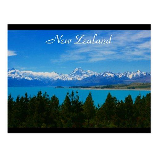 nz landscape border postcards