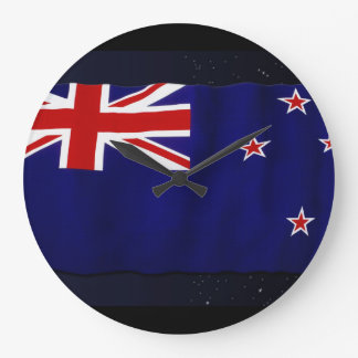 NZ - NEW ZEALAND Flag Proud Patriotic Wall Clock