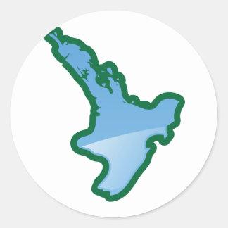 NZ North island Round Sticker
