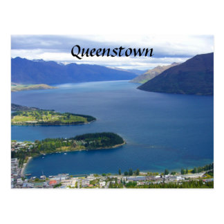 nz queenstown postcard
