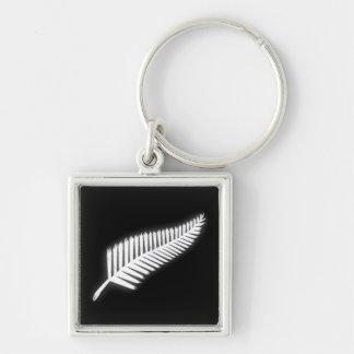 NZ Silver Fern National Emblem Patriotic Keychain