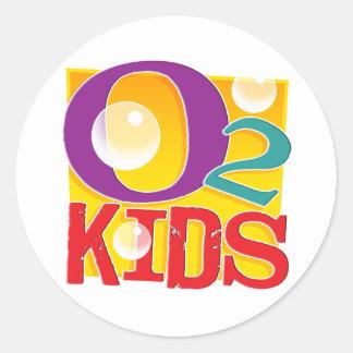 O2 Kids Stickers