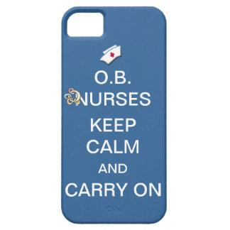 O.B. Nurses Keep Calm+Rattle /Summer Sky Blue iPhone 5 Case