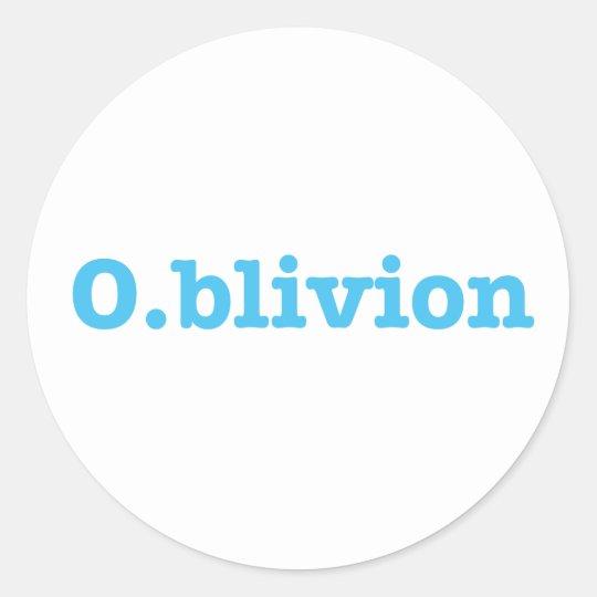 O.blivion Classic Round Sticker