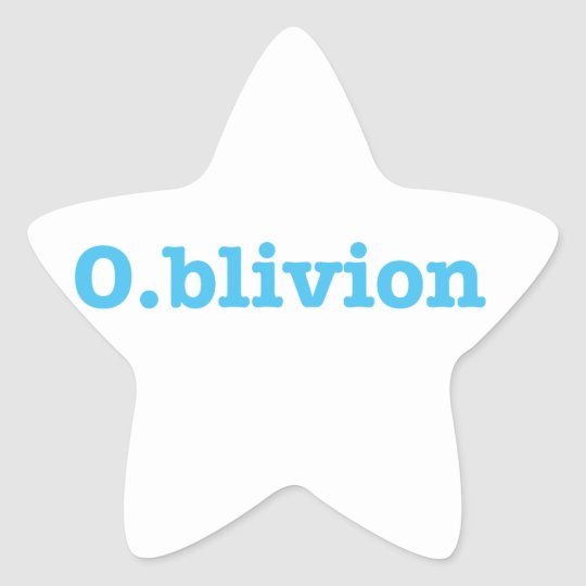 O.blivion Star Sticker
