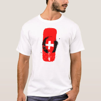 O+ Blood Type White Man Tee