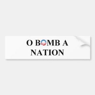 O BOMB A NATION BUMPER STICKER