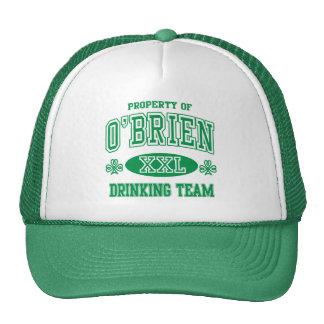O Brien Irish Drinking Team Trucker Hats