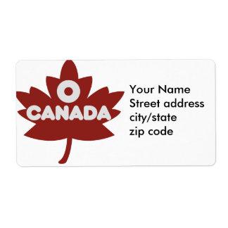 O Canada Canadan Day Shipping Label