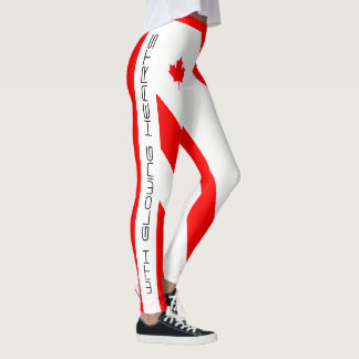 O Canada I Love You (With Glowing Hearts) Leggings