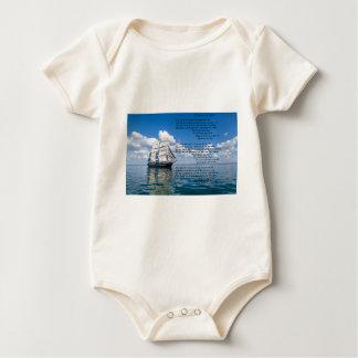 O' Captain, My Captain by: Walt Whitman Baby Bodysuit