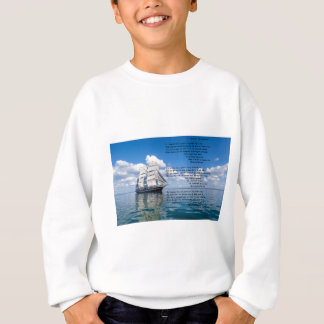 O' Captain, My Captain by: Walt Whitman Sweatshirt