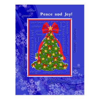 O Christmas Tree Lyrics Xmas Tree Snowflakes Postcard
