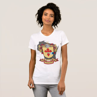 """O""""Donnell Family Crest_Wisconsin Women's White T T-Shirt"""