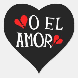 O El Amor Heart Stickers (sheet of 20)