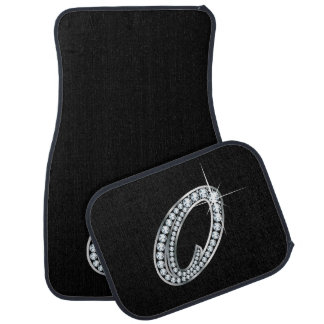 "O Faux-""Diamond Bling"" Car Mat"