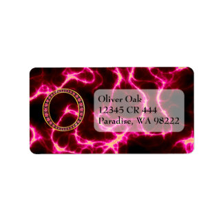 """O Faux-""""Ruby"""" Monogram  With Lightening Label"""