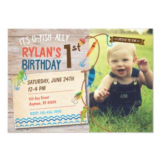 O-Fish-ally Boys First Birthday Fishing Invitation