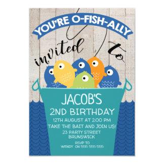 O-Fish-ally Invited Boy's Birthday Invitation