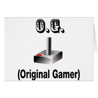 O.G. Gamer original Carte De Vœux