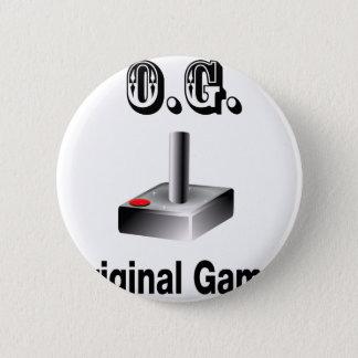 O.G. Original Gamer 2 Inch Round Button