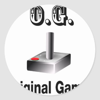 O.G. Original Gamer Classic Round Sticker
