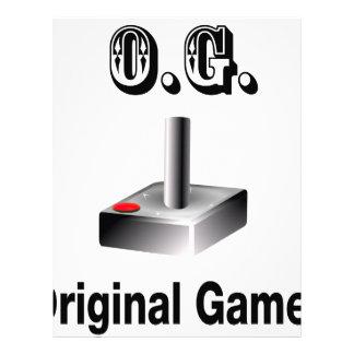 O.G. Original Gamer Letterhead