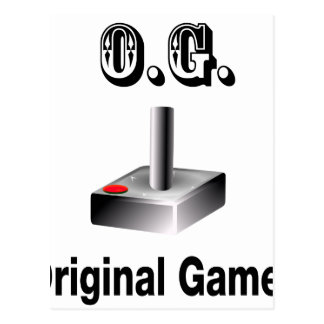 O.G. Original Gamer Postcard