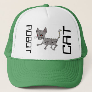 O.G. Robot Cat Dome-Piece Trucker Hat