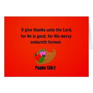 O Give Thanks Unto the Lord... Note Card