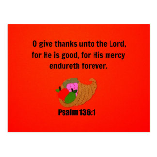 O Give Thanks Unto the Lord Postcards