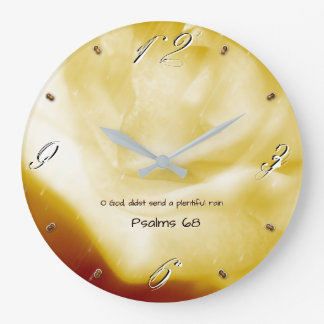 O God, didst send a plentiful rain 93 Large Clock