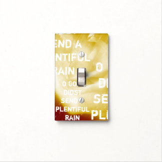 O God, didst send a plentiful rain Light Switch Cover