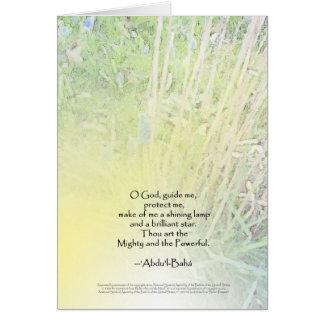O God, Guide Me - Baha'i Prayer Card