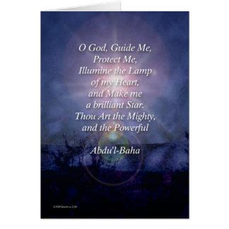 O God Guide Me Baha'i Prayer Card