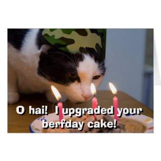 O hai!  I upgraded your berfday cake Card